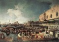 Reception Of The Ambassador In The Doges Palace Canaletto